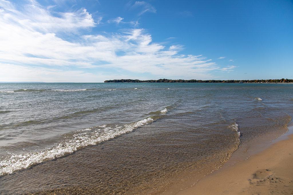 beach and sky at Bay Beach