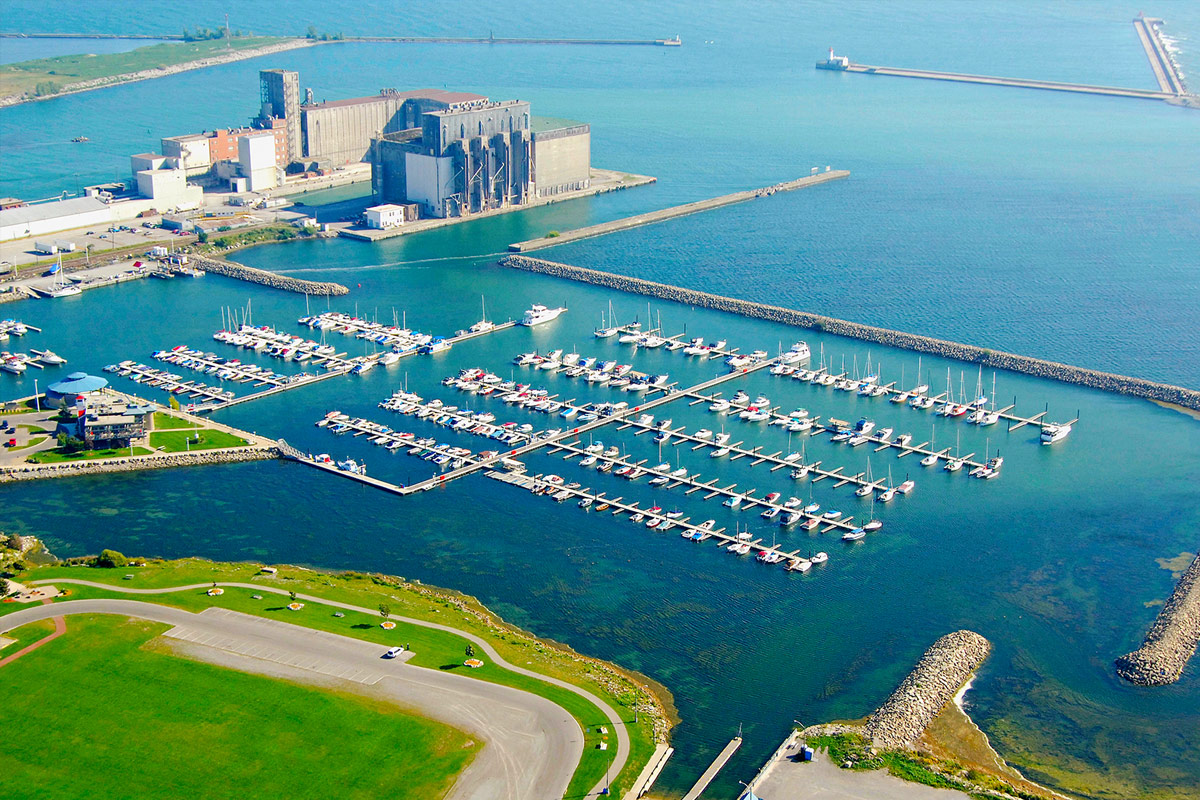 arial view of the Sugarloaf Marina