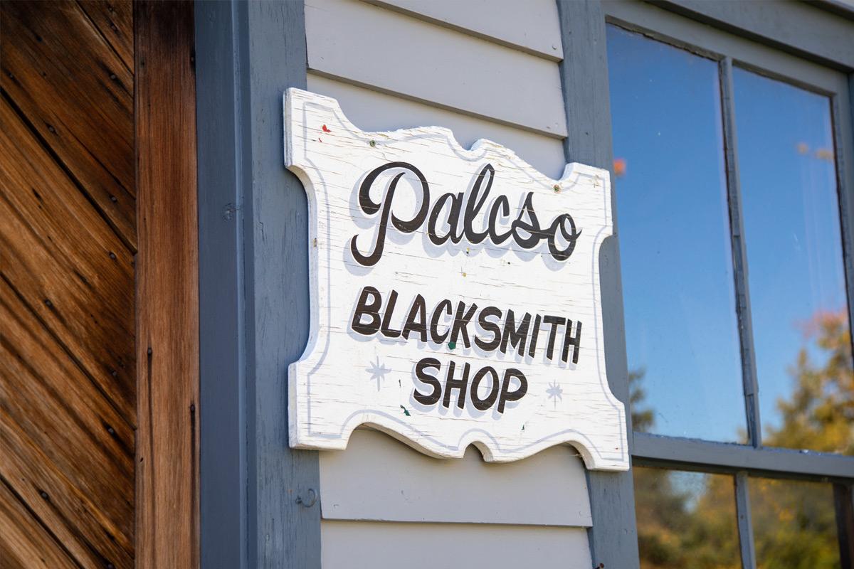 sign - Palcso Blacksmith Shop at Marshville heritage Village